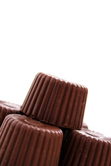 Rounded chocolate from corner