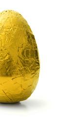 Half golden Easter egg