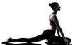 woman exercising yoga