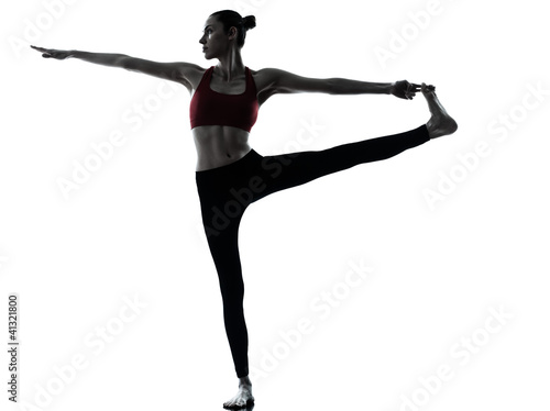 woman exercising yoga Hasta Padangusthasana
