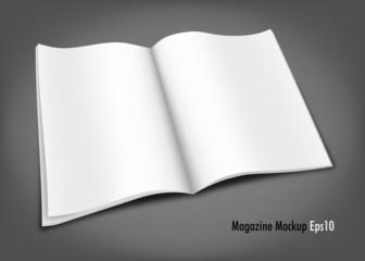 Blank Magazine Mockup Template