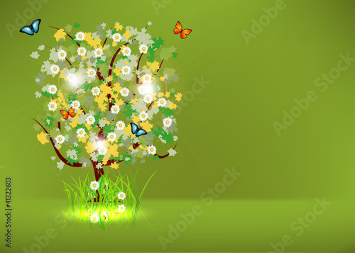 Blossoming Spring - Summer Tree