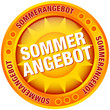 "Button Sonne ""Sommerangebot"" gelb/orange"