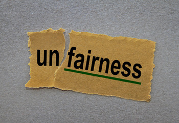 unfair vs. fairness