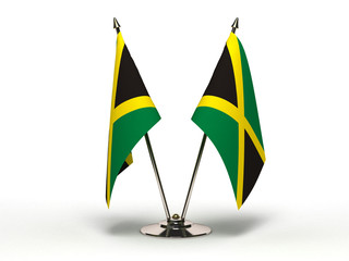 Miniature Flag of Jamaica (Isolated)