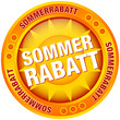 "Button Sonne ""Sommerrabatt"" gelb/orange"