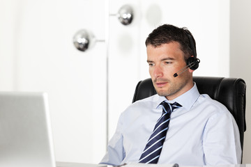 office headset man