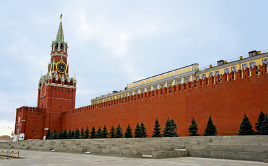 Moscow, Spasskaya Tower and Red Square
