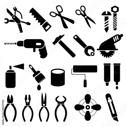 Work Tools - set of vector icons