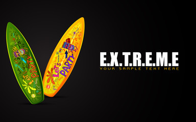 Surf Board on Extreme Concept