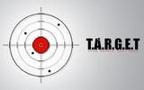 Crosshair on Target Background
