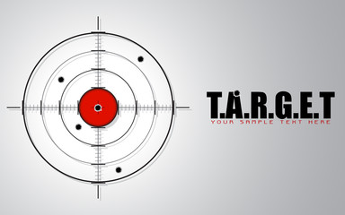 Crosshair on Target Background