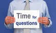 Time for questions - Business Concept