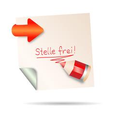 post it - stelle frei