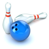 Ten Pin Bowling Illustration