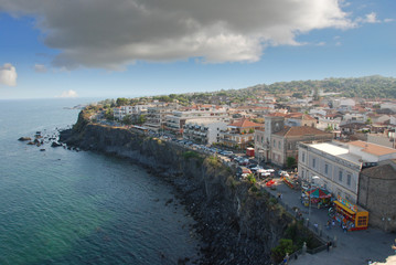 Acicastello's view from the castle (Catania-Sicily)