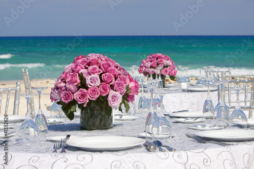 In de dag Buffet, Bar Bouquet di rose