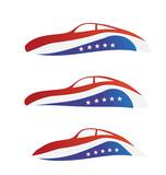 USA Car swoosh poster