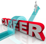 Person Better Job Career Word Rising Promotion Opportunity poster