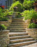Stone stairs landscaping - Fine Art prints