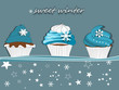 Muffin, Cupcakes Winter Karte