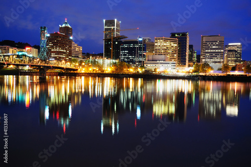 Beautiful portland skyline