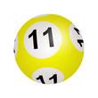 Tirage loto, boule numéro 11