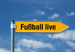 Pfeil mit blauem Himmel FUSSBALL LIVE