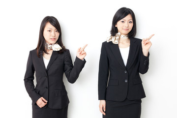 asian businesswomen showing