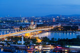 Wien, Panorama am Abend - Fine Art prints