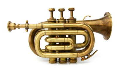 Trumpet old brass instrument