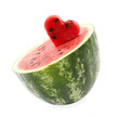 Watermelon cut as heart shape