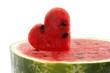 Watermelon cut as heart shape