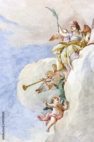 Leinwanddruck Bild Fresco Wieskirche
