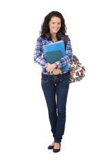 Confident smiling university student