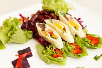 summer salad with calamari