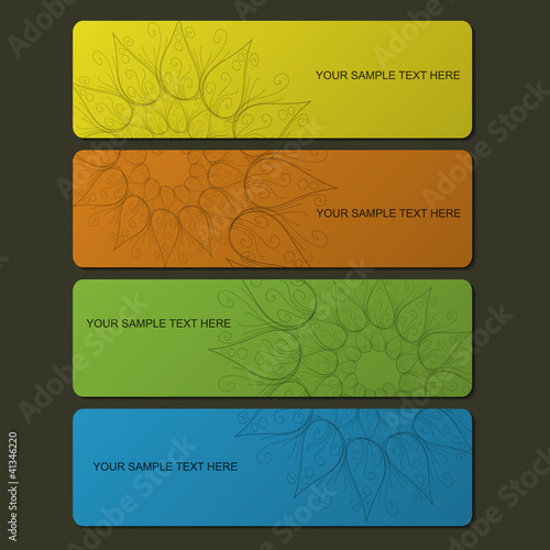Nature colorful banner set