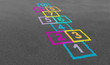 Hopscotch In A School