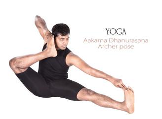 Yoga Aakarna dhanurasana Archer pose