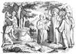 Benedict of Nursia destroys statue of Apollo at Monte Cassino