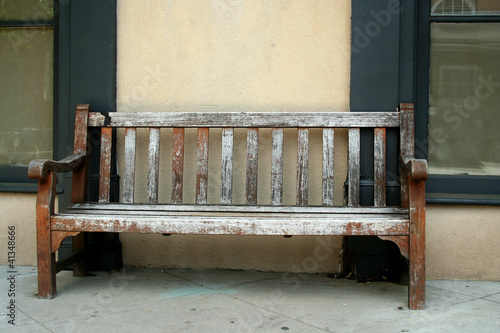Old wodden bench