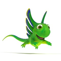 Jumping lizard
