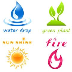 Umwelt und Natur - icon set