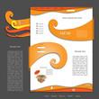 Creative colorful modern nature web design
