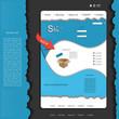 Creative blue modern web design