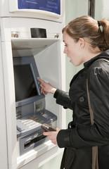 Problème au distributeur de la banque