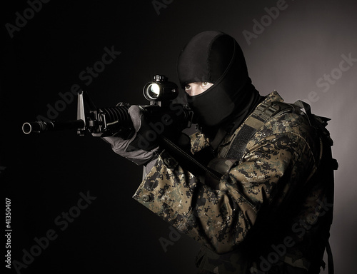soldier with balaclava