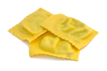 Cooked ravioli filled with spinach and ricotta - Italian p