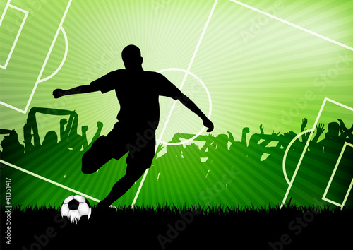 canvas print picture soccer background