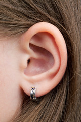 The little girl's ear